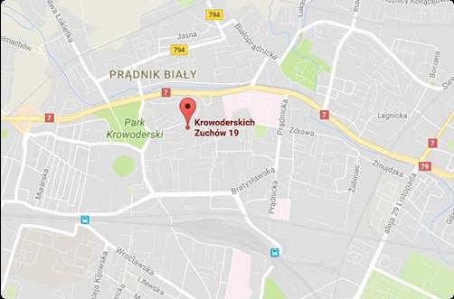 mapa rehabilitacja krakow